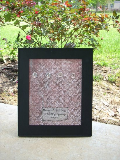 Framed Magnetic Message board Wall Decor