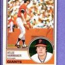 1983 Topps 342 Atlee Hammaker