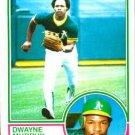 1983 Topps 598 Dwayne Murphy