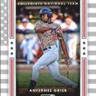 2016 Donruss USA Collegiate National Team 15 Anfernee Grier