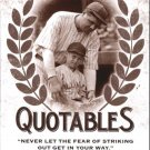 2016 Leaf Babe Ruth Collection Quotables Q2 Babe Ruth