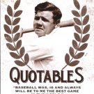 2016 Leaf Babe Ruth Collection Quotables Q6 Babe Ruth