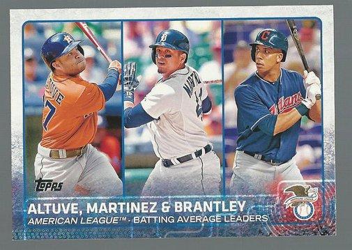 2015 Topps 2 Jose Altuve/Victor Martinez/Michael Brantley LL