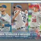 2015 Topps 214 Corey Kluber/Max Scherzer/Jered Weaver LL