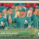 2015 Topps 33 Oakland Athletics