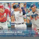 2015 Topps 98 Mike Trout/Nelson Cruz/Miguel Cabrera LL