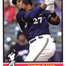 2015 Topps Archives 142 Khris Davis UER/Carlos Gomez pictured