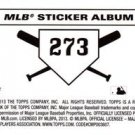 2013 Topps Stickers 273 Giants Puzzle