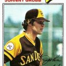 1977 Topps 286 Johnny Grubb
