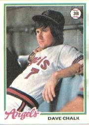1978 Topps 178 Dave Chalk