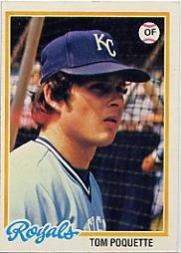 1978 Topps 357 Tom Poquette
