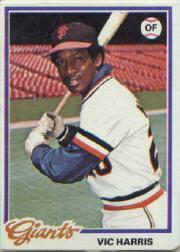 1978 Topps 436 Vic Harris DP