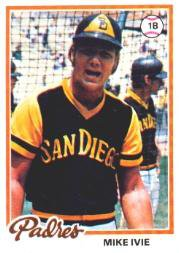 1978 Topps 445 Mike Ivie