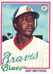 1978 Topps 475 Gary Matthews