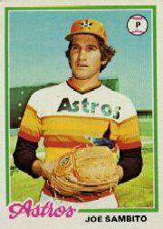 1978 Topps 498 Joe Sambito