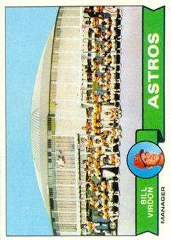 1979 Topps 381 Houston Astros CL/Bill Virdon MG