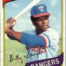 1980 Topps 458 Billy Sample