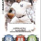 2010 Topps Attax Code Cards Series 1 22 Cc Sabathia