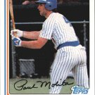 2010 Topps Cards Your Mom Threw Out CMT31 Paul Molitor