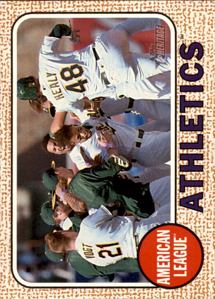 2017 Topps Heritage 149 Oakland Athletics TC
