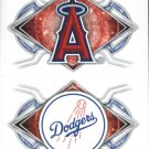 2017 Topps Stickers 138 Los Angeles Angels/166 Los Angeles Dodgers