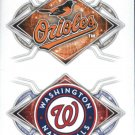 2017 Topps Stickers 146 Baltimore Orioles/160 Washington Nationals