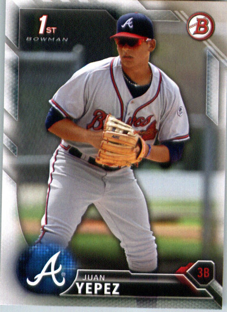 2016 Bowman Prospects BP29 Juan Yepez
