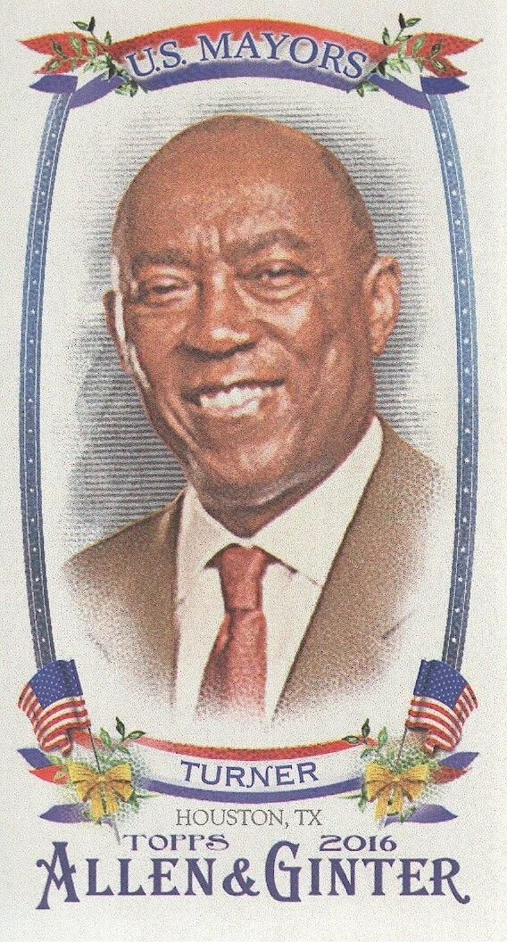 2016 Topps Allen and Ginter Mini US Mayors USM2 Sylvester Turner