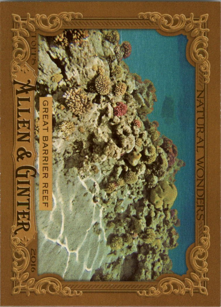 2016 Topps Allen and Ginter Natural Wonders NW2 Great Barrier Reef