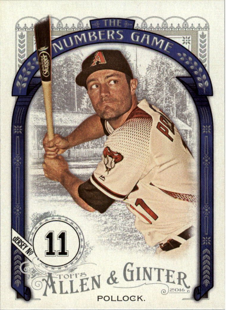 2016 Topps Allen and Ginter The Numbers Game NG58 A.J. Pollock