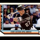 2016 Topps Heritage Now and Then NT1 Trevor Story