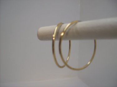 Gold Hoop Dangle Earrings n114