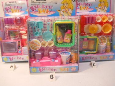 Miniature Kitchen Set for Kids Dollhouses n179