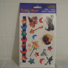 Star Moon Wizard Cat Etc. Stickers 3 Pack Set , n101