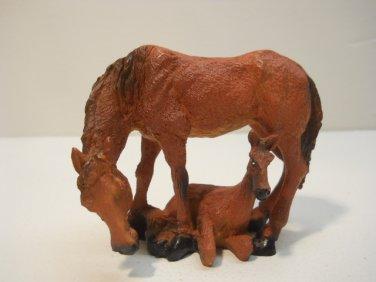 Mom & Baby Horses, Decorative Figurine Figure n566