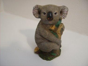 KOALA BEAR WITH TREE STUMP FIGURINE STATUE  n236
