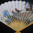 Birds & Flowery Paper Hand Fan # 130
