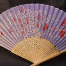 Lavender Flowers Silk Handheld Hand Fan Folding Fans Asian Hand Fan #Fan157