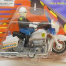 Police Highway Toy Motorcycle Pullback Action
