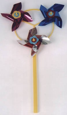 Pinwheels 3 way Spinning Toy Wind Spinner,Yard Twirler