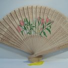 Asian Hand Painted Floral Scented  Wooden Hand Folding Fan  n42