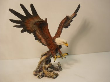 Beautiful Open Wing Eagle on  tree Branch Figurine #803