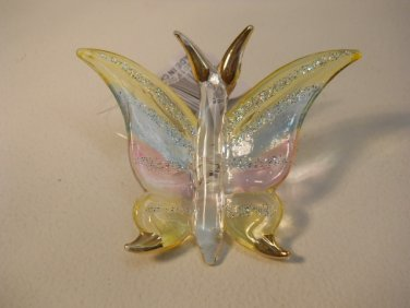 Blown Glass Multi Colored  Butterfly Decorative Figure Dctv68
