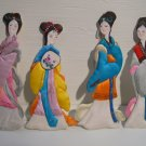 Asian Ladies decorative wall Hangings Hand made Decor 4 pc Set