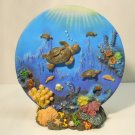 Decorative Turtle Plate and  Base Set Figure Figurine Decor Turtles