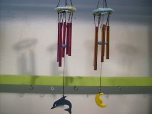 Dolphin or Star Moon WindChimes Decorative Chimes New Vintage