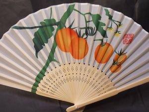 Oranges Fruit Silk Handheld Fan Folding Fans Asian Hand Fan