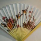 Birds & Floral Flower Design on Paper Hand Fan