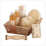 Ginger White Tea Bath Basket