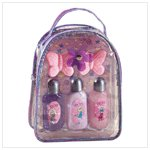 Purple PVC Gift Bag Lotion Bath Set